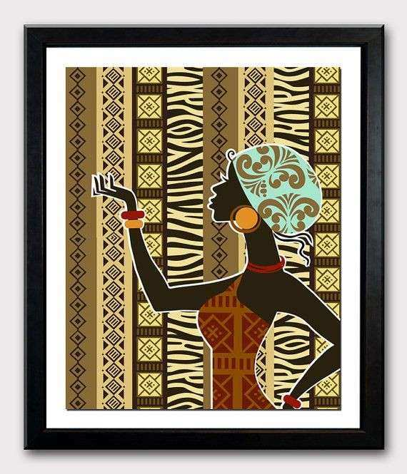 African Artwork African Woman African Painting African