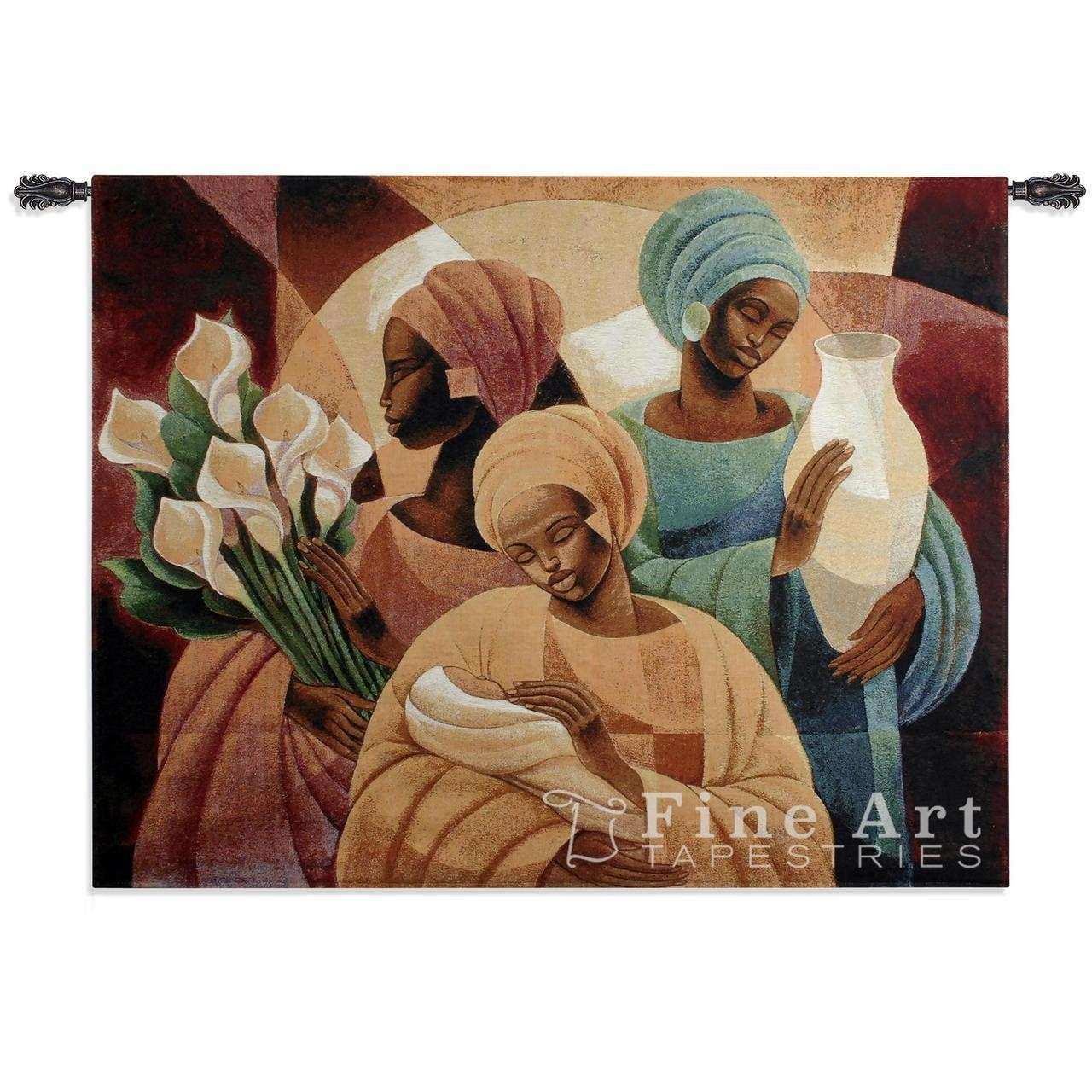 Caress African Tapestry Wall Hanging Ethnic Designs H40