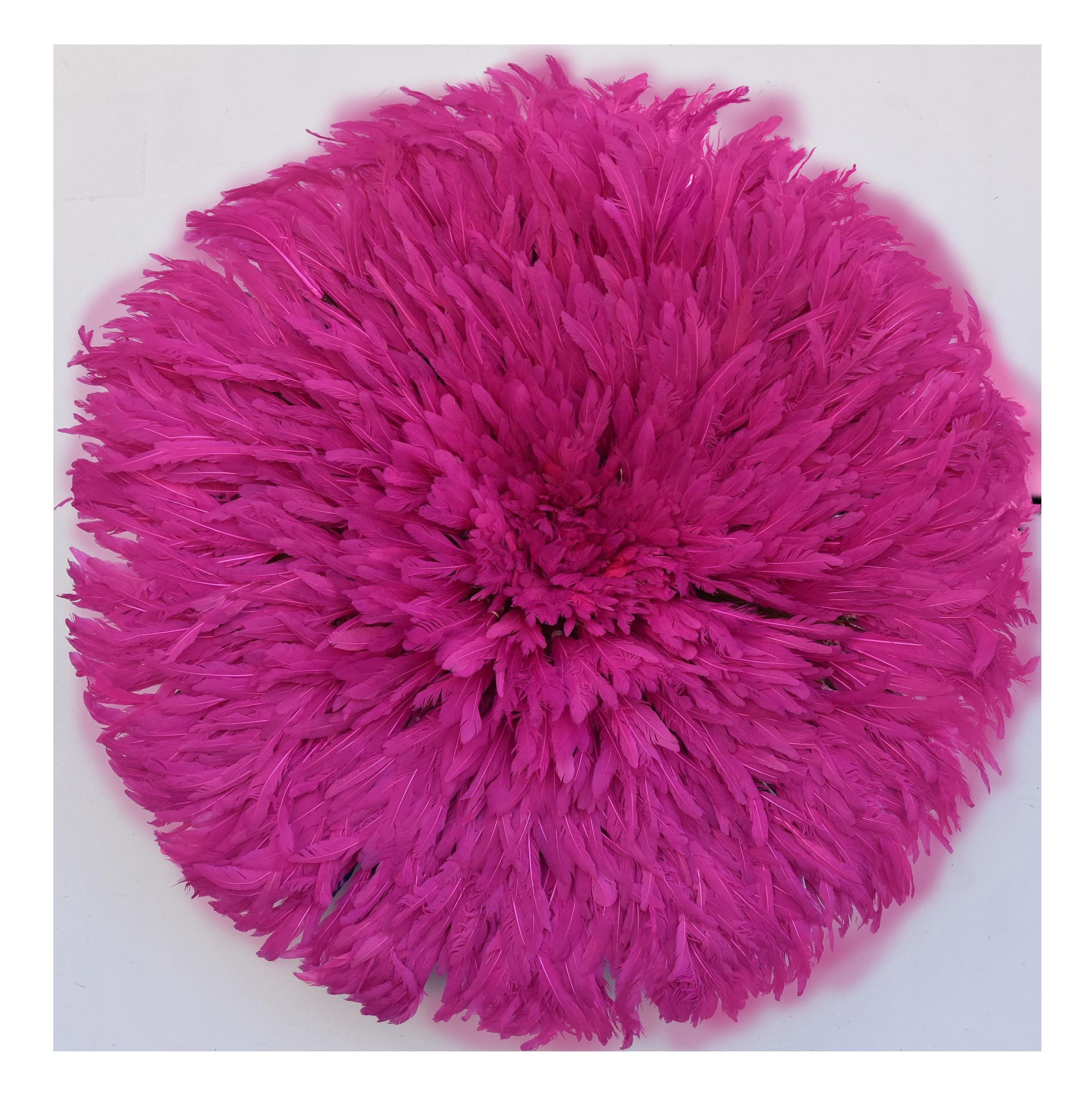 "30"" Pink African Feather Juju Hat Wall Hanging"