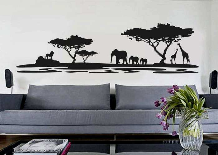 African Wall Decor Beautiful African Decor African Safari Wall Decal Vinyl Decor  Art