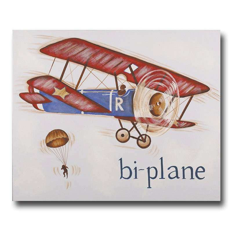 Airplane Wall Art Elegant Canvas Vintage Plane Decor Bi Transportation