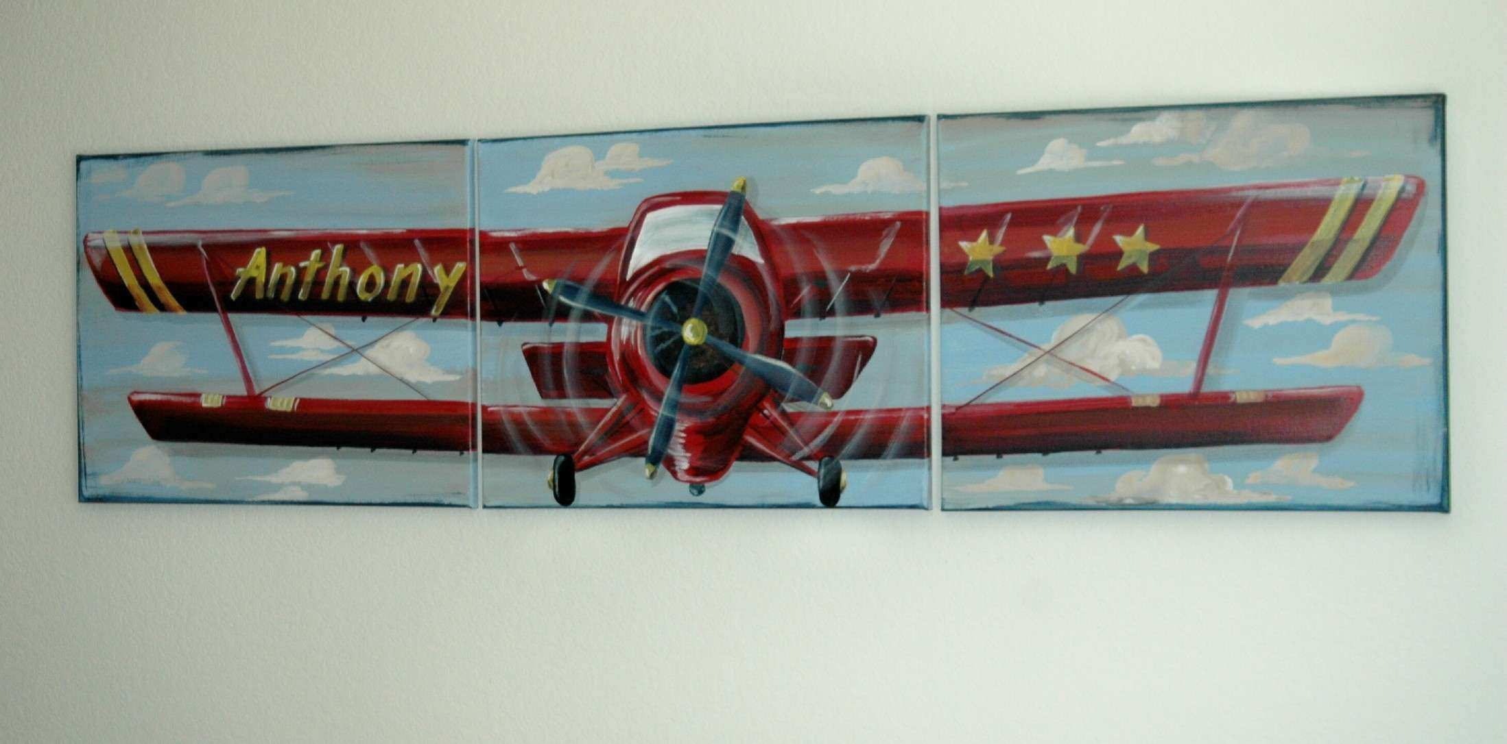 Index of airplane themed wall art