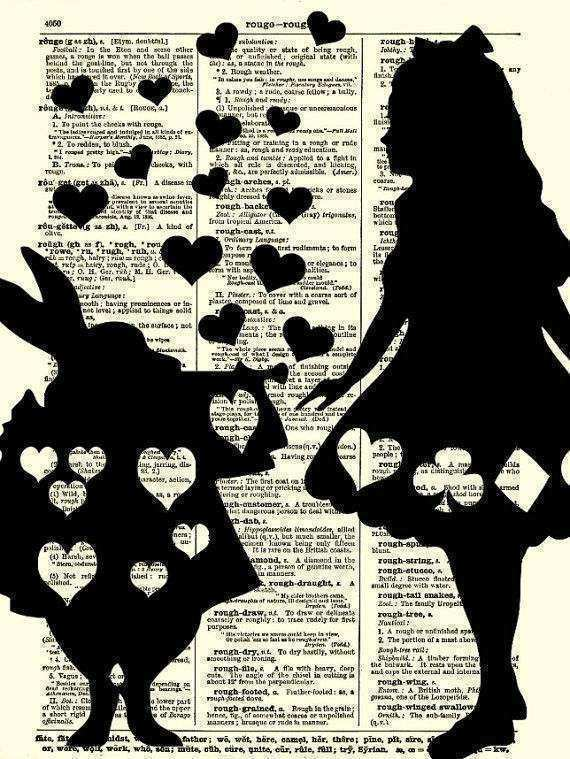 Alice in Wonderland Art Print Alice and from