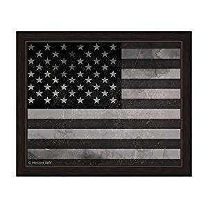 Amazon Black And White Distressed American Flag