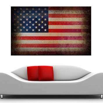 American Flag WITH FRAME canvas print from my ShopEtsy on
