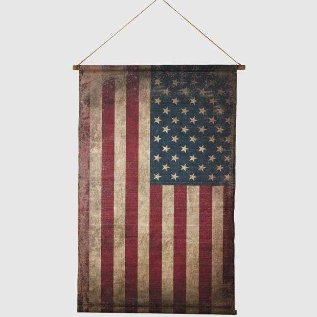 Canvas American Flag Wall Decor