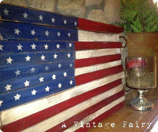 Wooden Flag Wall Art