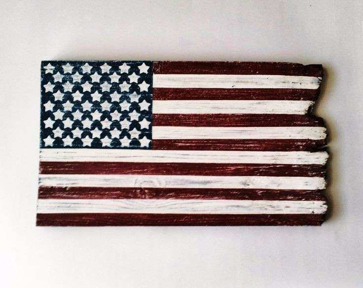 Barn Wood American Flag Patriotic Wall Decor Rustic