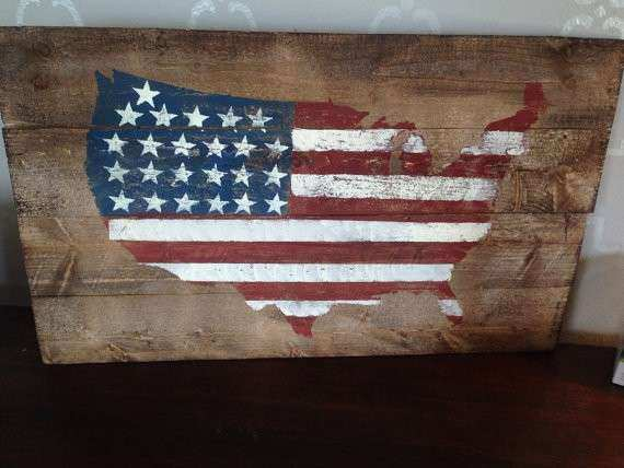 American Flag Decor United States Decor Patriotic by Girlinair