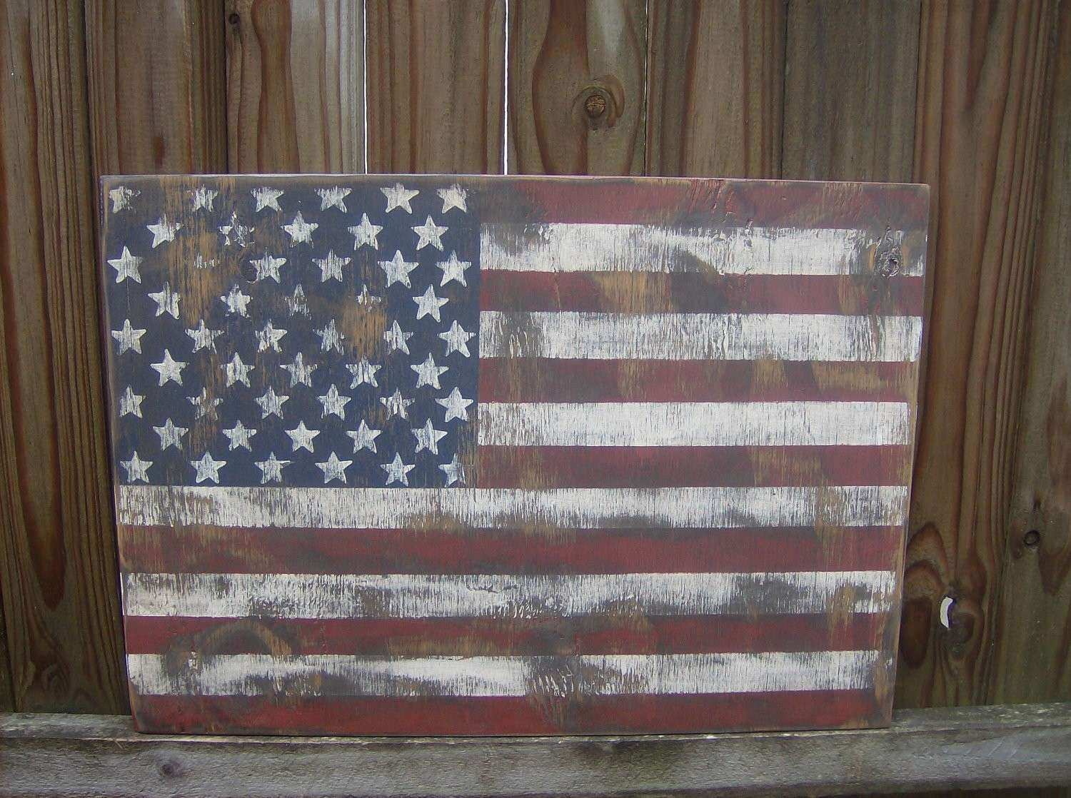 American Flag Wood Wall Art Unique Distressed American Flag Wall Decor