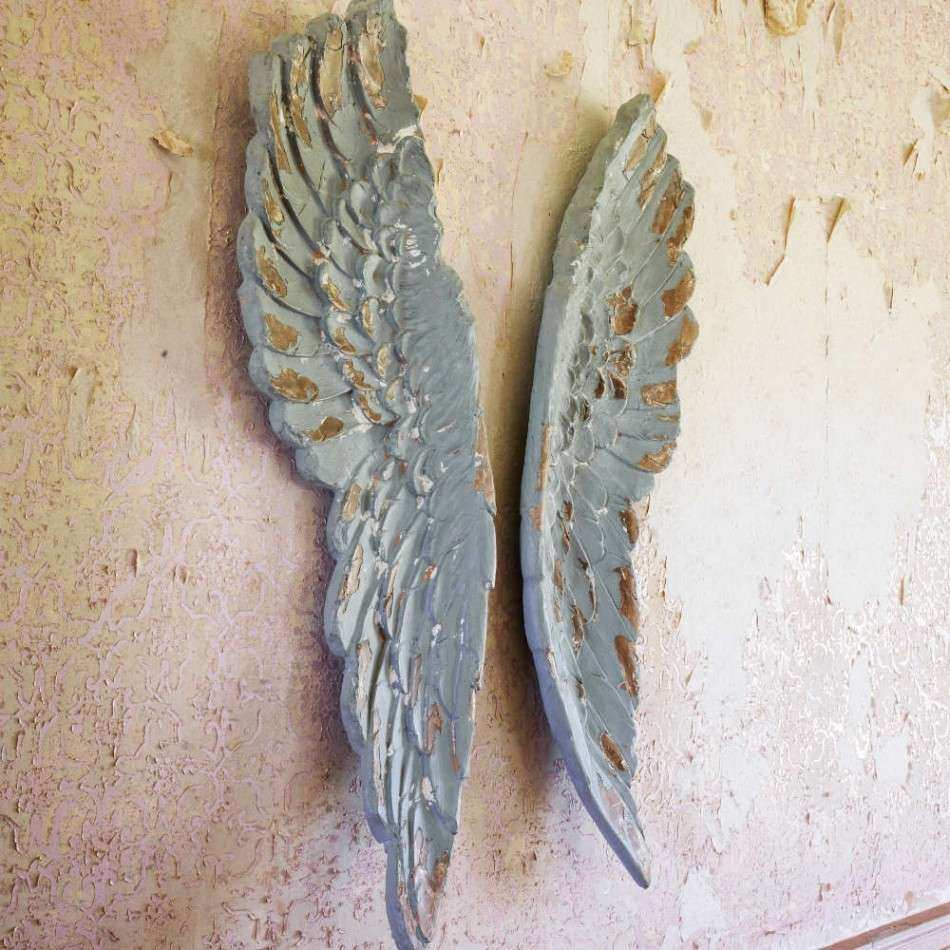 Angel Wings Wall Decor Lovely Antiqued Grey Angel Wings Prints