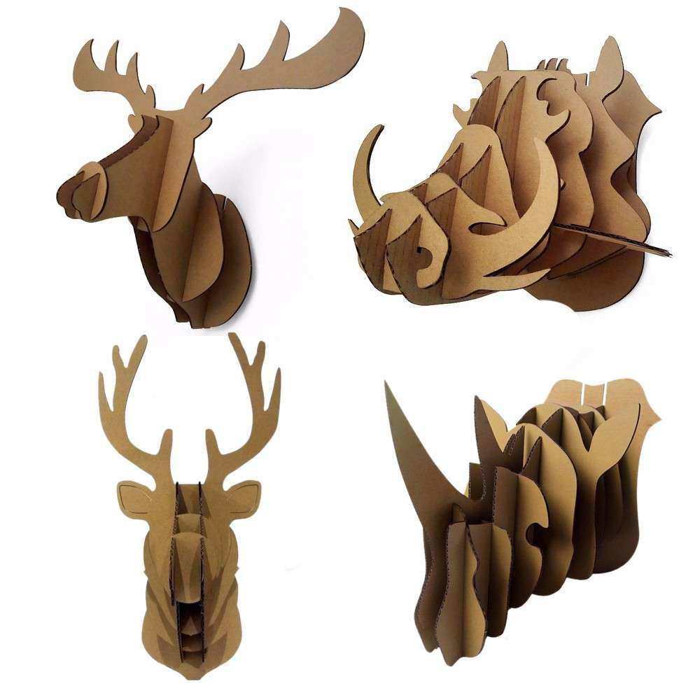 Animal Head Wall Decor Best Of Decorative 3d Puzzle Cardboard Decoration
