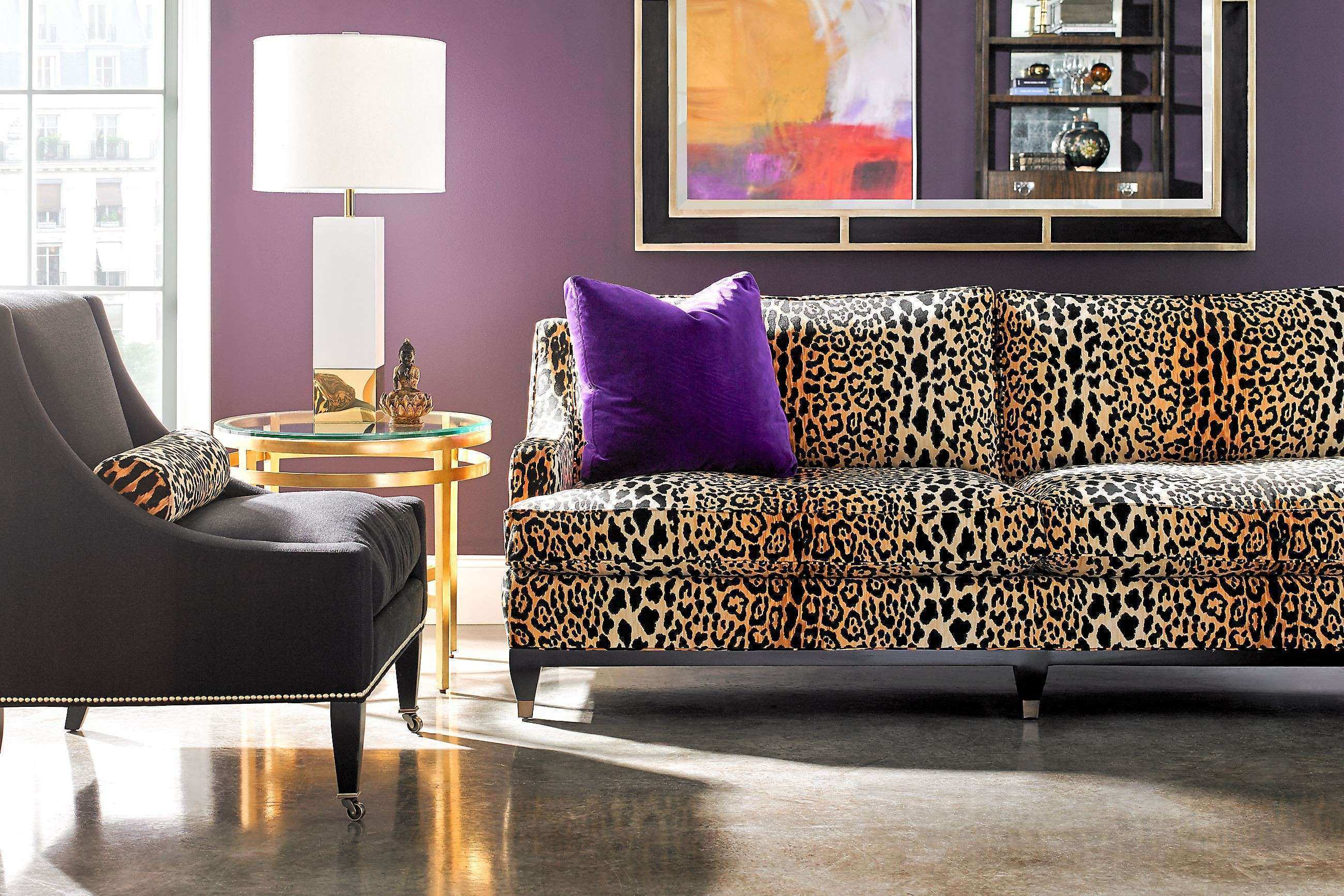 Furniture Home Awesome Animal Print Living Room leather barrel