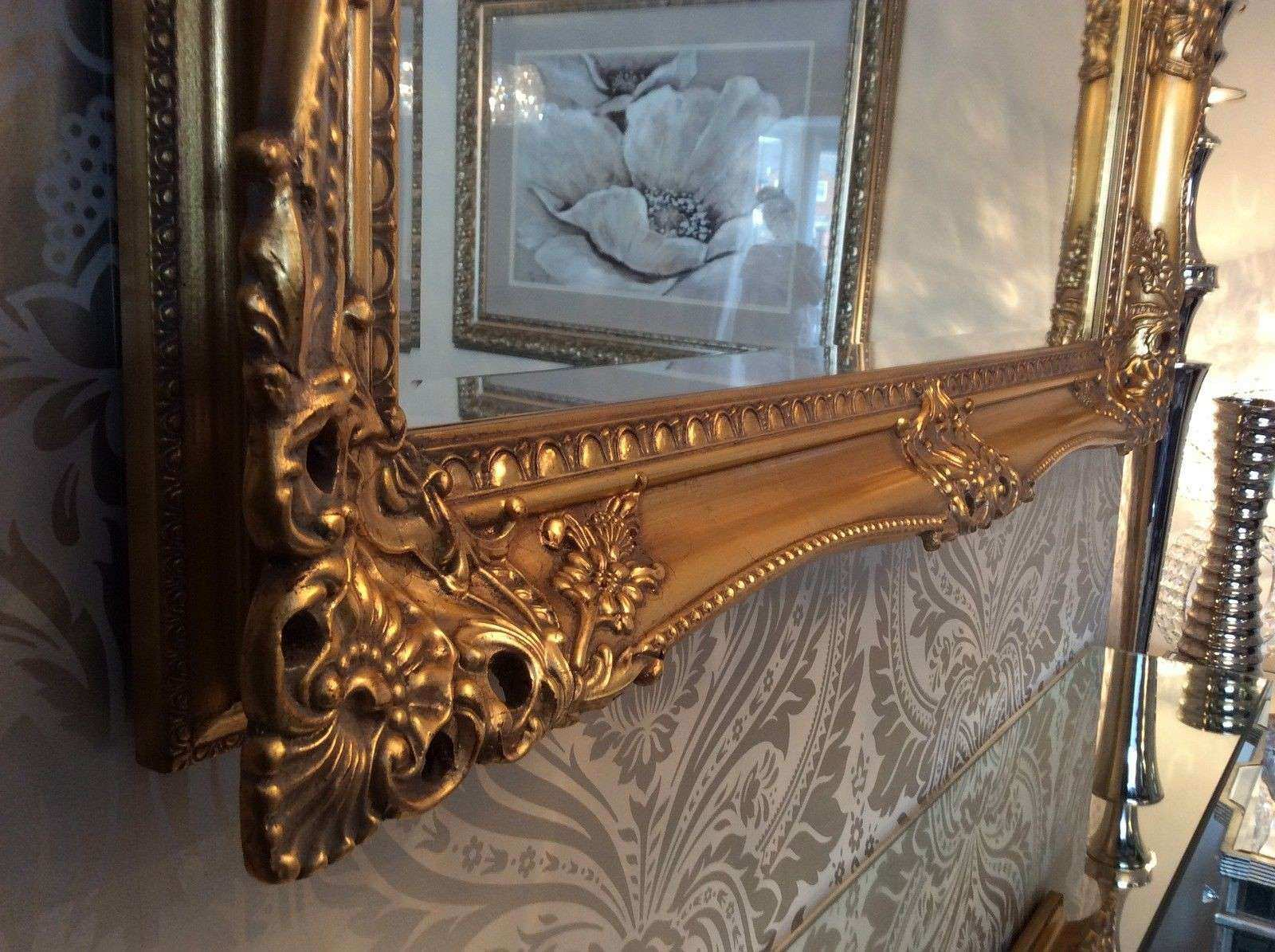 X LARGE Antique GOLD Shabby Chic Ornate Decorative Wall