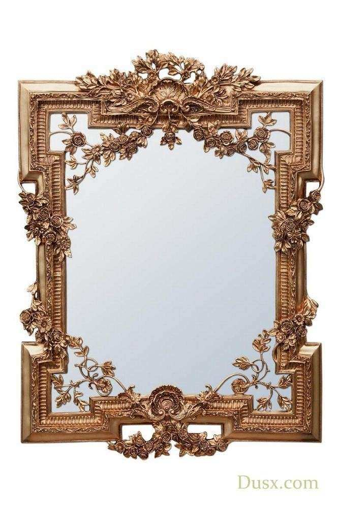 Antique Wall Mirrors Decorative New Dusx Francesca Floral Antique Gold Decorative Wall Bedroom