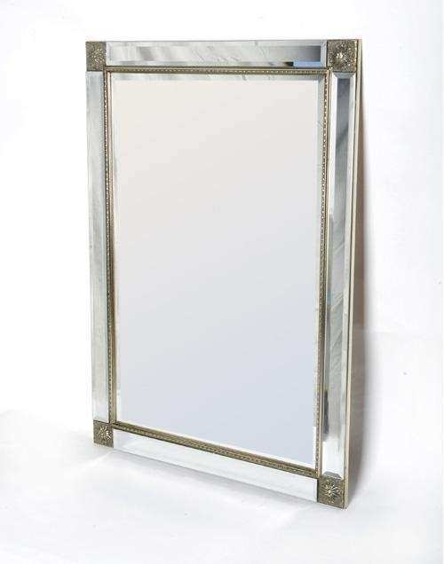 Decorative Bevelled Wall Mirror with Mirror Edge Frame