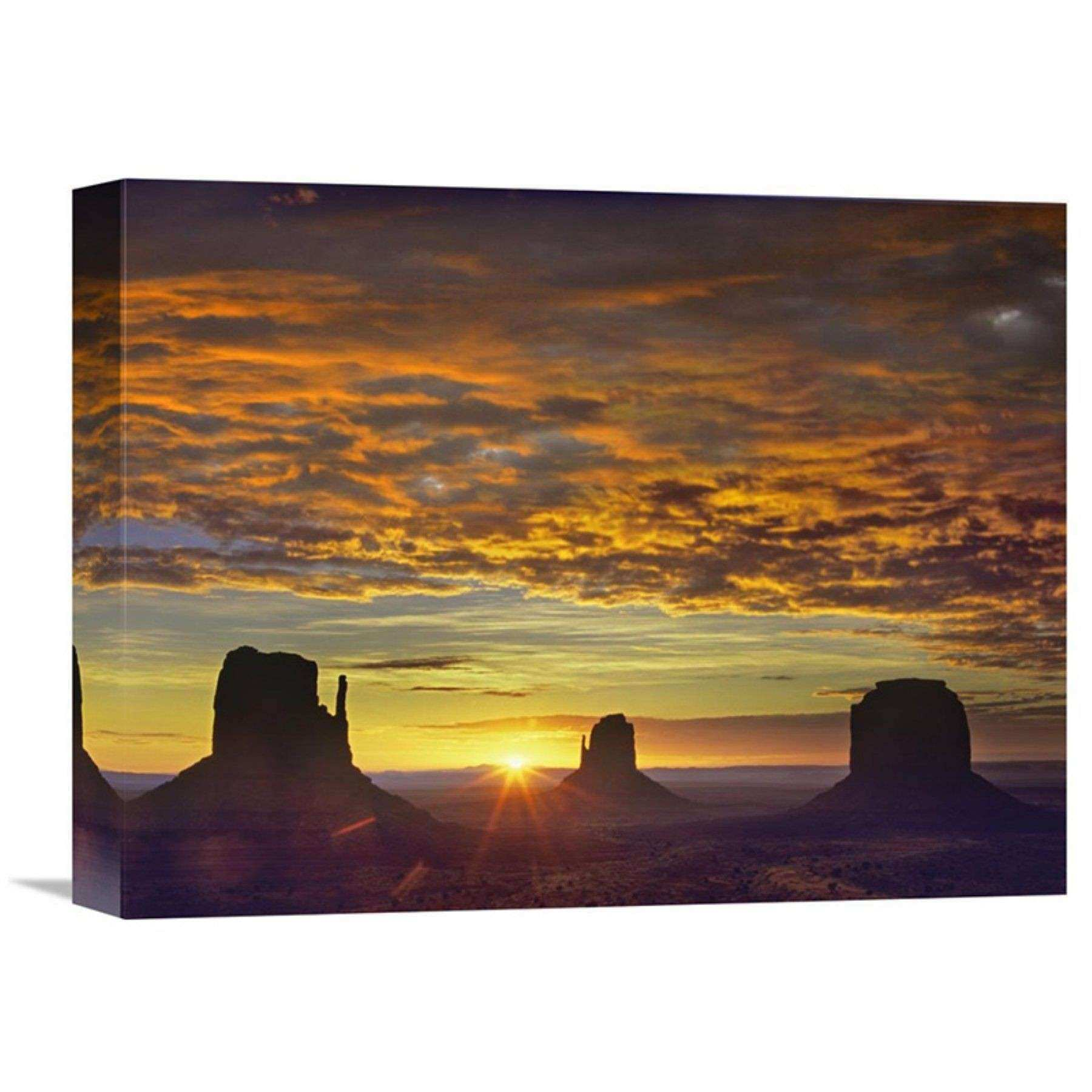 Arizona Wall Art Inspirational Global Gallery the Mittens and Merrick butte at Sunrise Monument