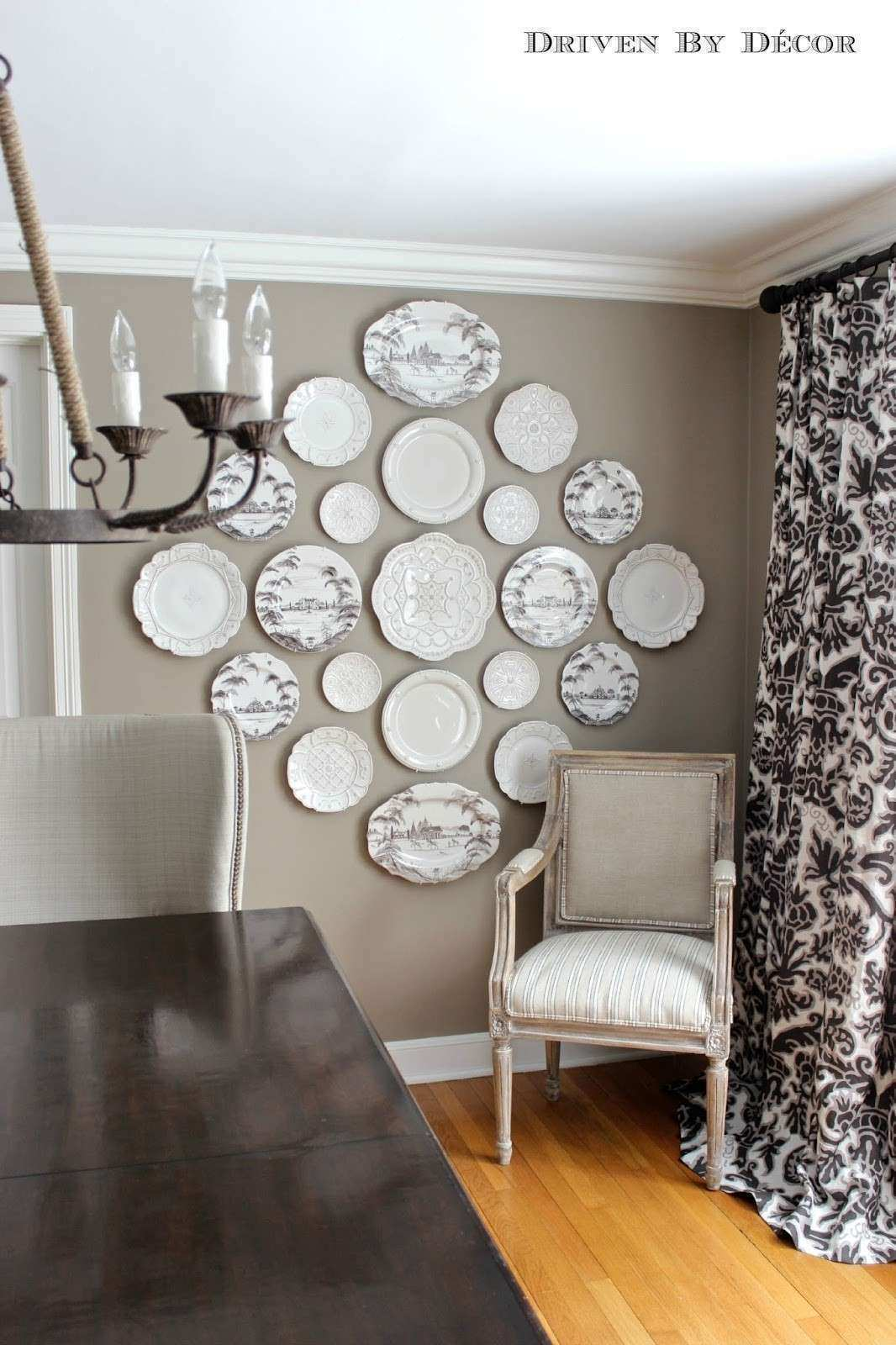 The Easy How to for Hanging Plates on the Wall