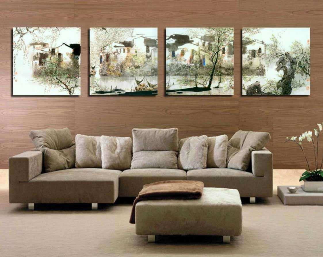 Ideas for decorating a large wall in living room