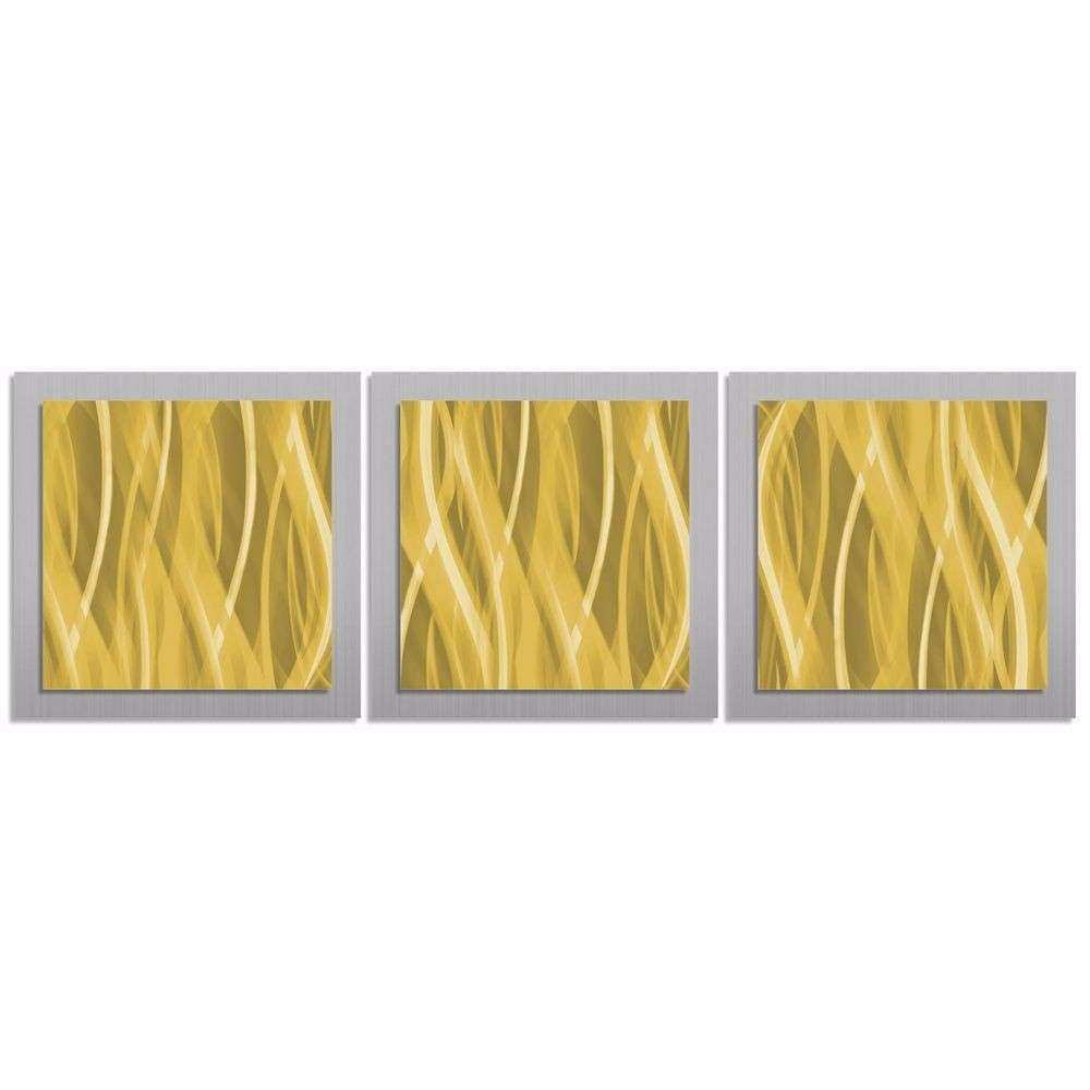 Arts Wall Decor Awesome Modern Gold Color Wall Art Contemporary ...