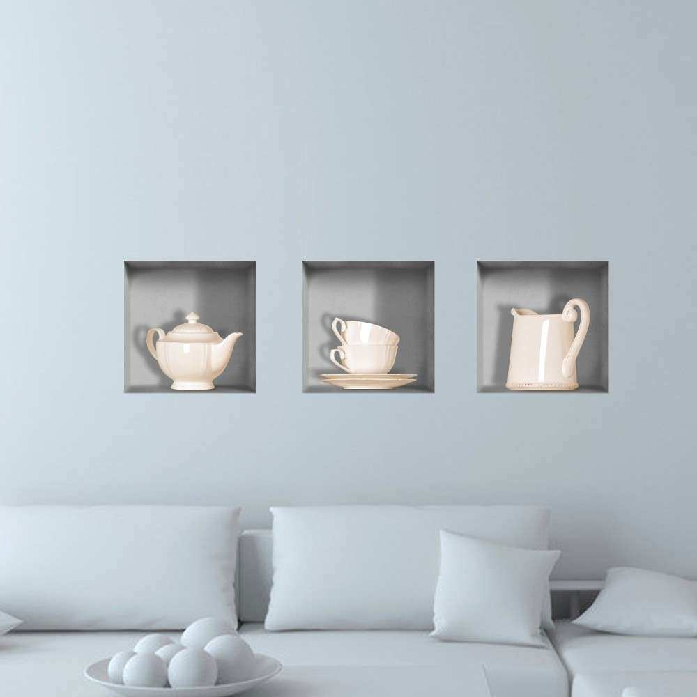 Tea Ware 3D Riding Lattice Wall Decals PAG Removable Wall