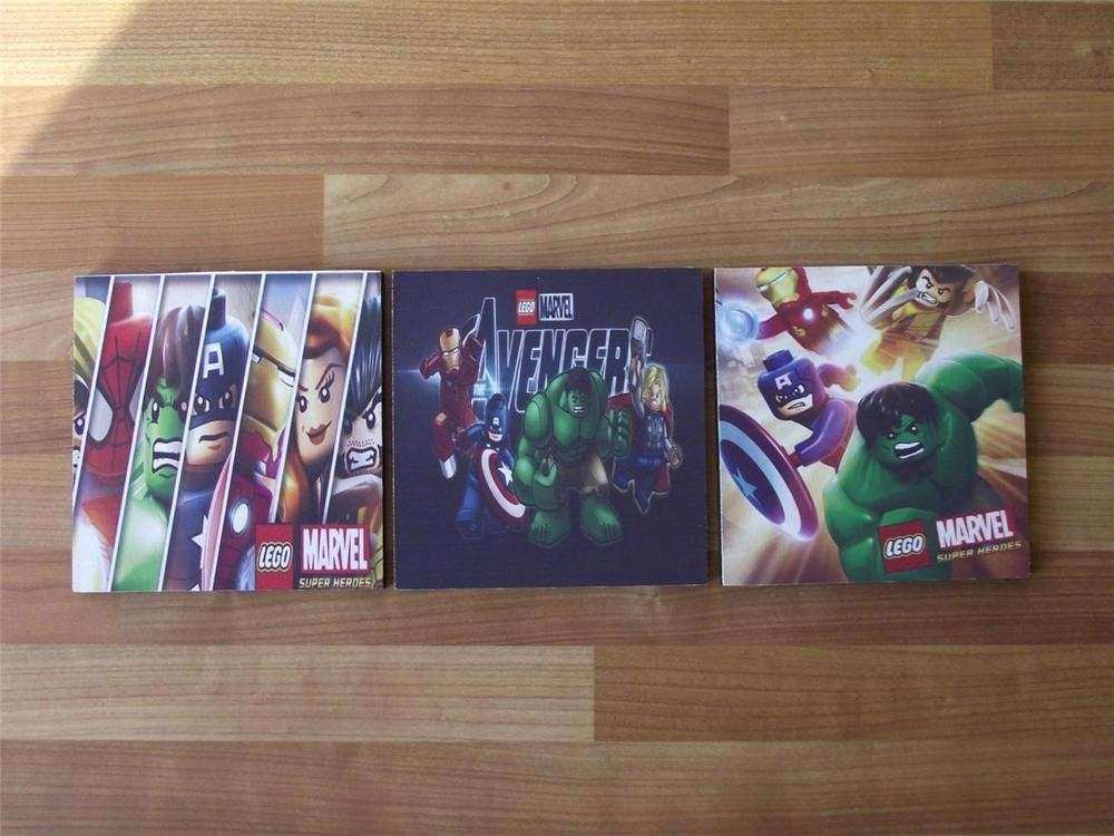 LEGO AVENGERS SET b CANVAS WALL ART PLAQUES PICTURES