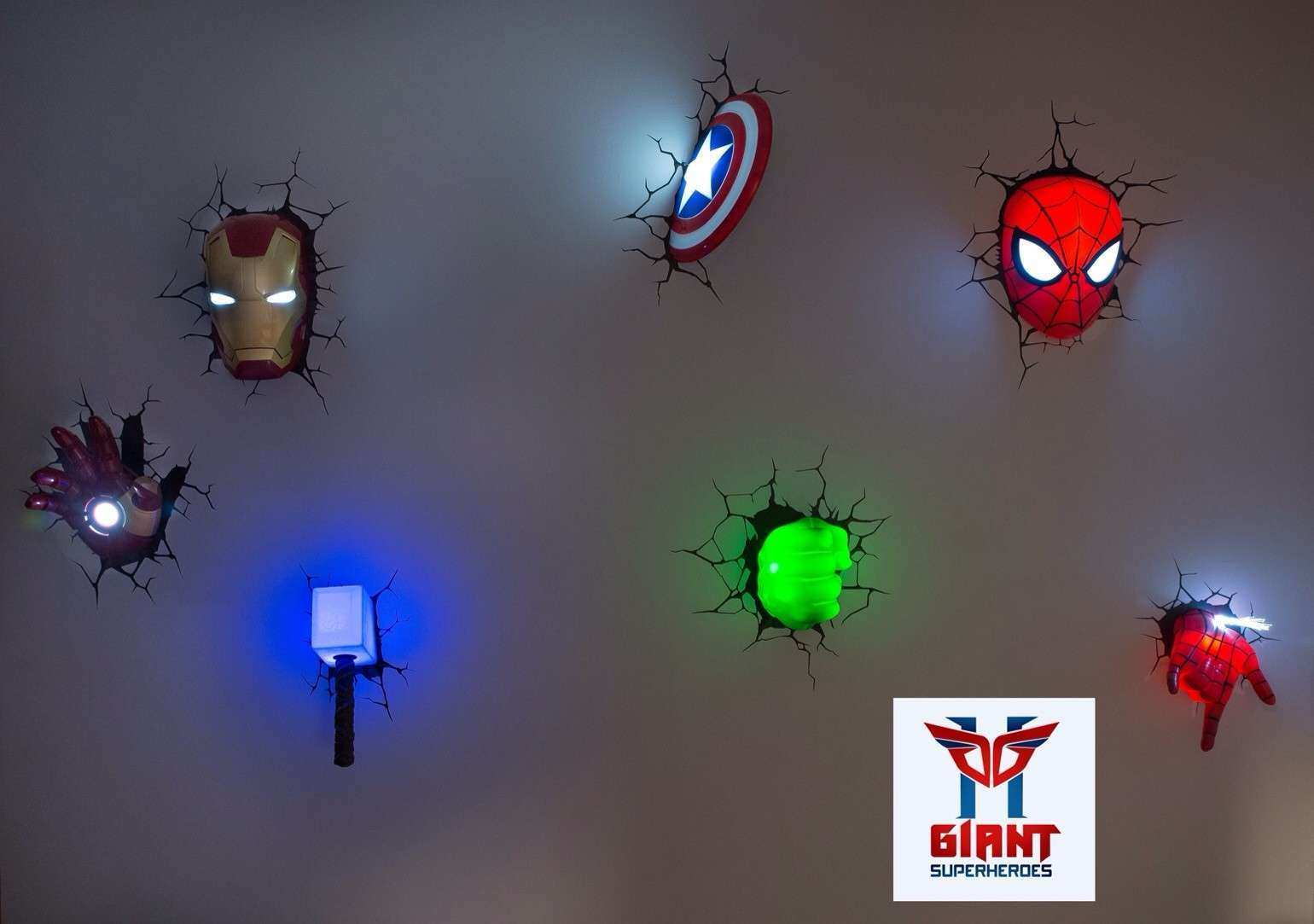 The Avengers 3D Wall Art Nightlight Takuice