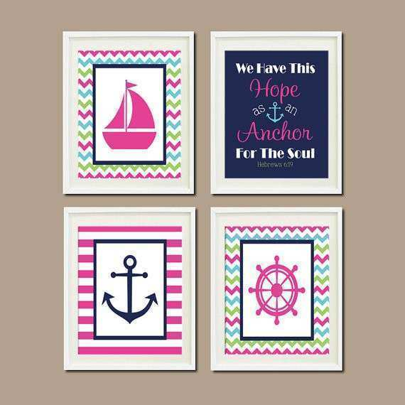 Baby Nursery Wall Decor Awesome Items Similar To Nautical Art