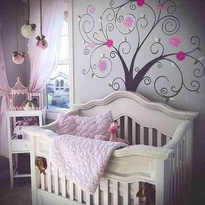 Avery s Dream Nursery Decorated in Pink and Brown