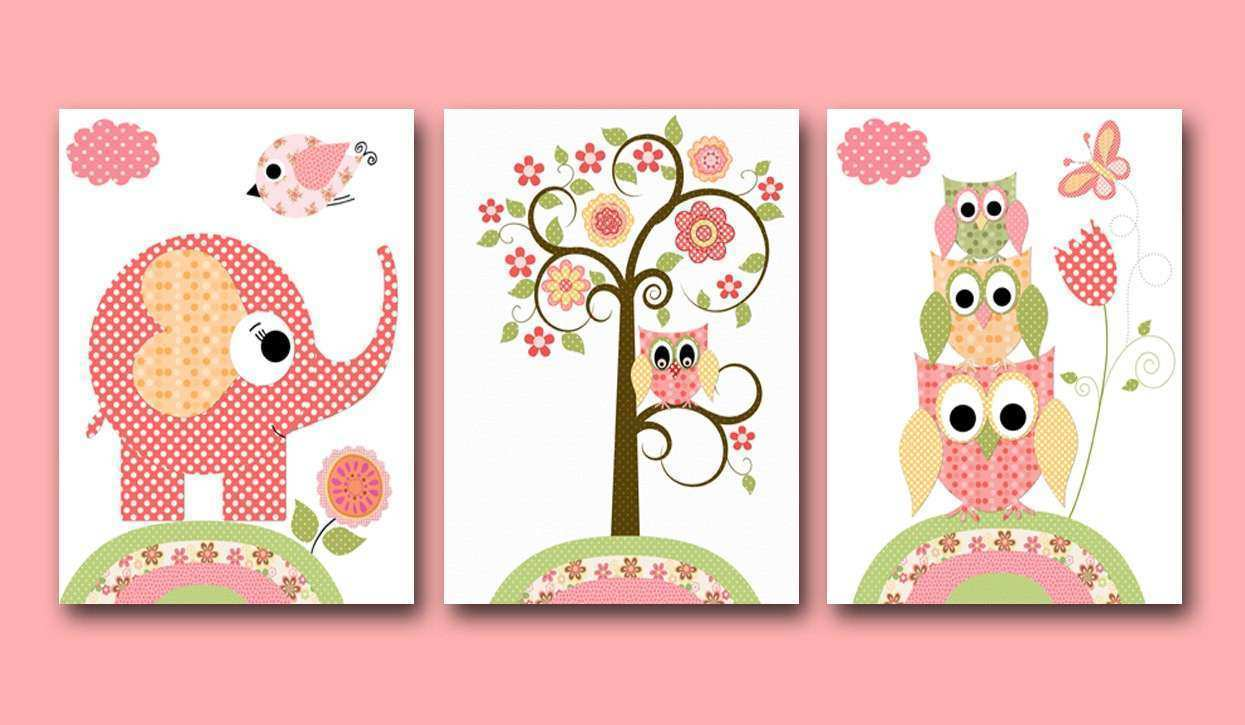 Baby Girl Nursery Wall Decor Luxury Nursery Art For Children Kids Wall Art  Baby Girl Nursery