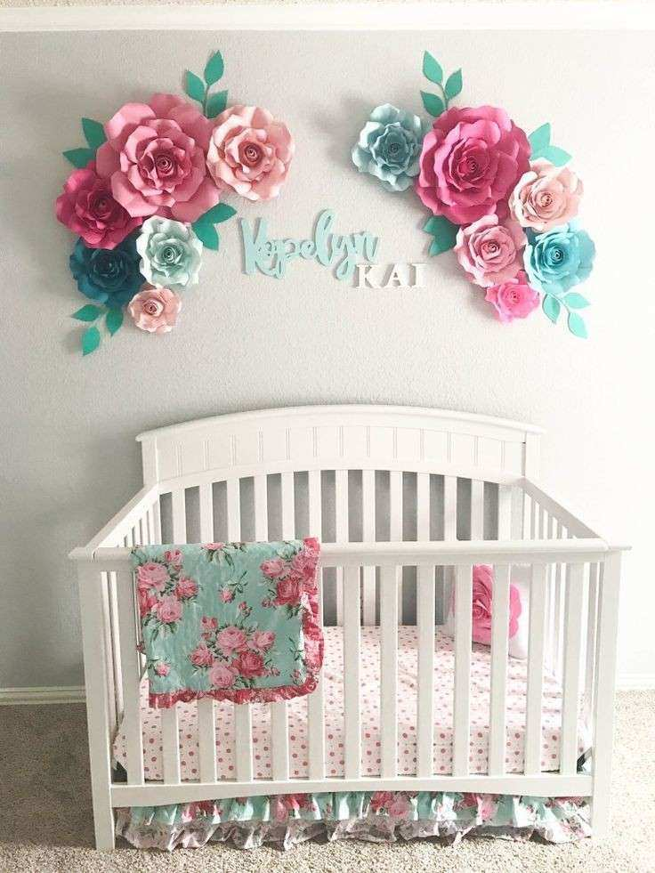 Baby girl room wall decor best of aqua floral nursery paper flowers baby girl room wall decor best of aqua floral nursery paper flowers floral arrangement mightylinksfo Image collections
