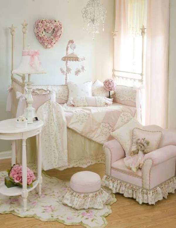 Baby Girl Room Wall Decor New Shabby Chic Baby Nursery With Pink Decor