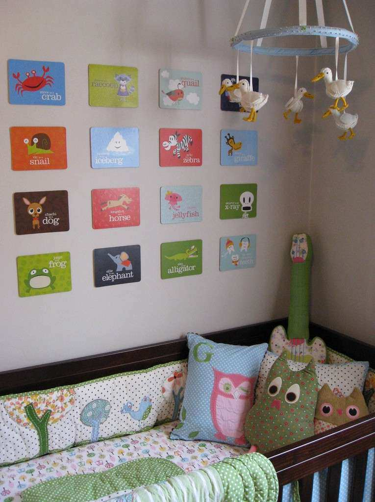 Nursery Wall Ideas for the Crib
