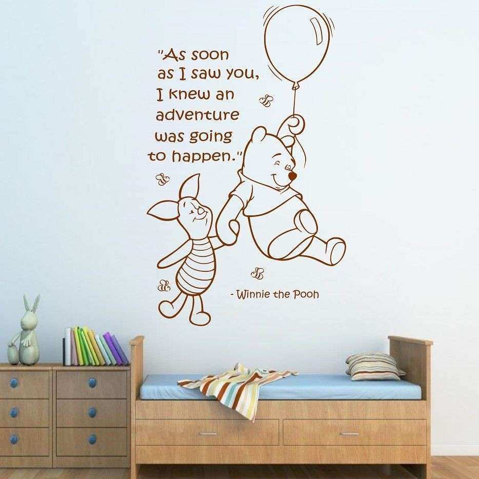 Wall Quote WINNIE THE POOH Wall Sticker Art Girls Boys