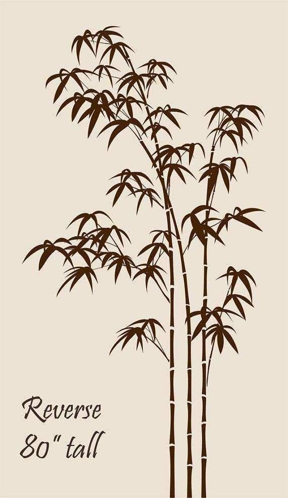 Bamboo Wall Decal Bedroom Living room Tree Stickers