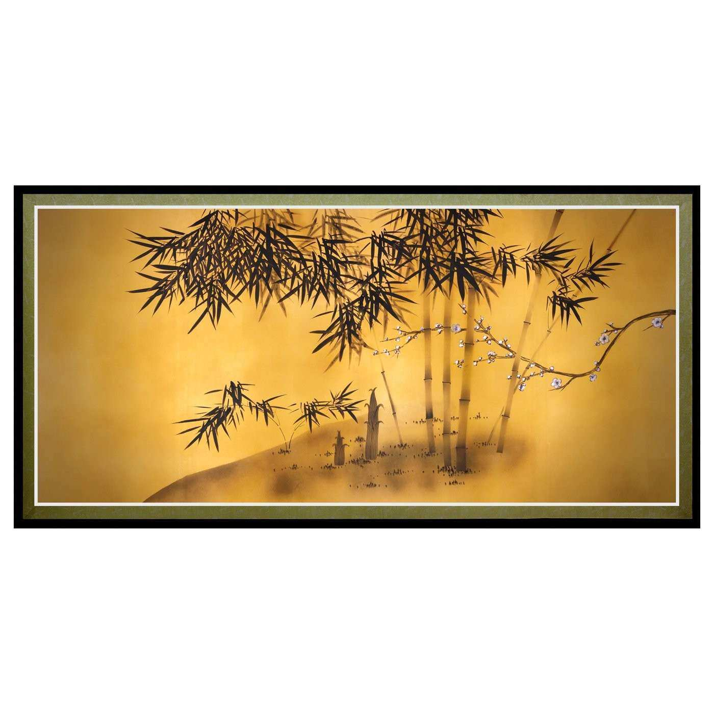 Oriental Furniture CAN ART SILK1 Bamboo Tree Canvas Wall