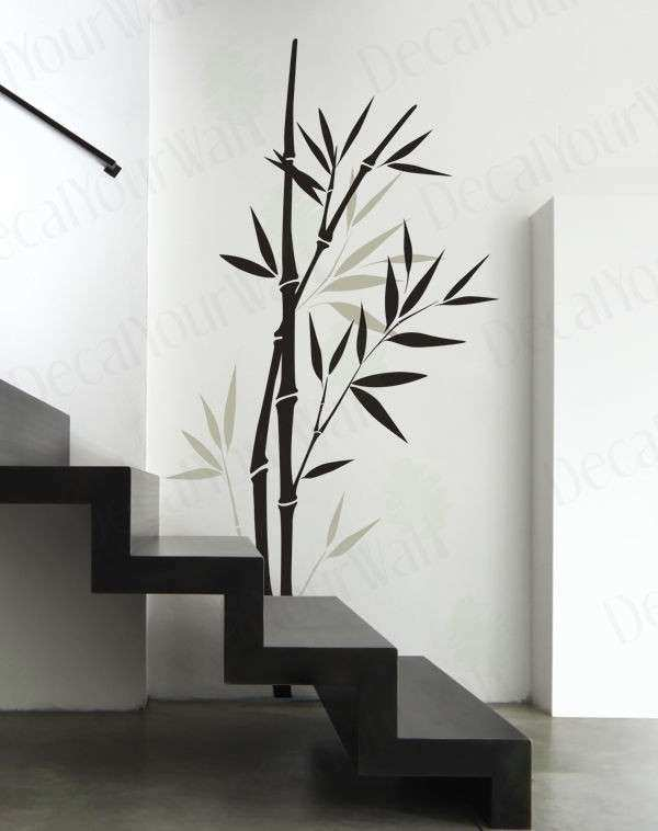 Bamboo Tree Branch Removable Vinyl Wall Decal