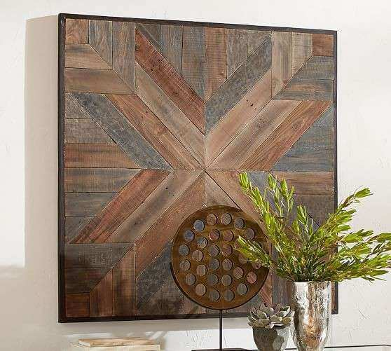 Planked Quilt Square Wall Art