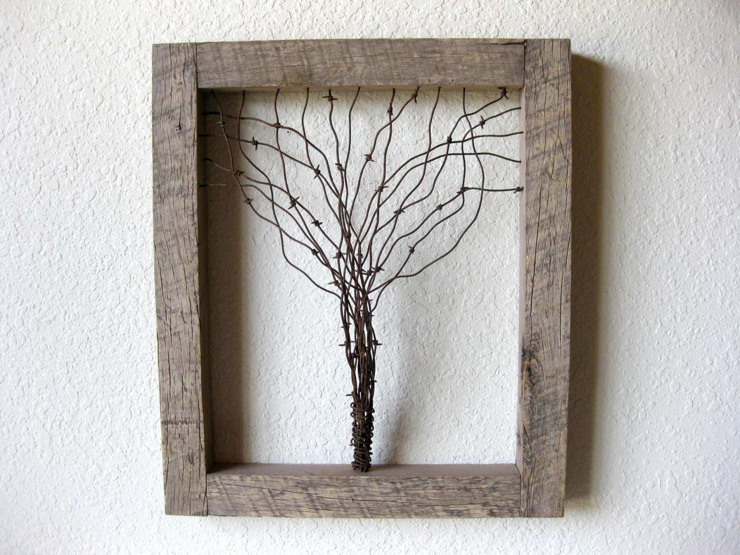 Barn Wood Wall Art Inspirational Reclaimed Barn Wood and Barbed Wire Tree Wall Art