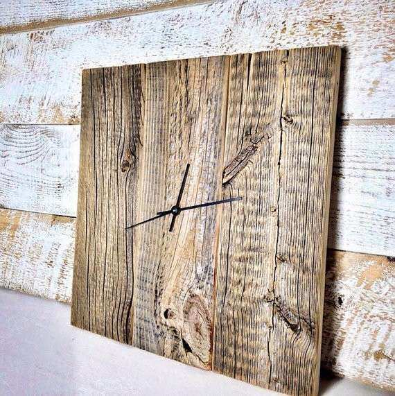 Modern Rustic Clock Barn Wood Wall Clock Wood Clock