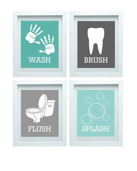 Bathroom Rules Wall Art Beautiful Bathroom Rules Boys Girls Bathroom Wall  Art Aqua Grey
