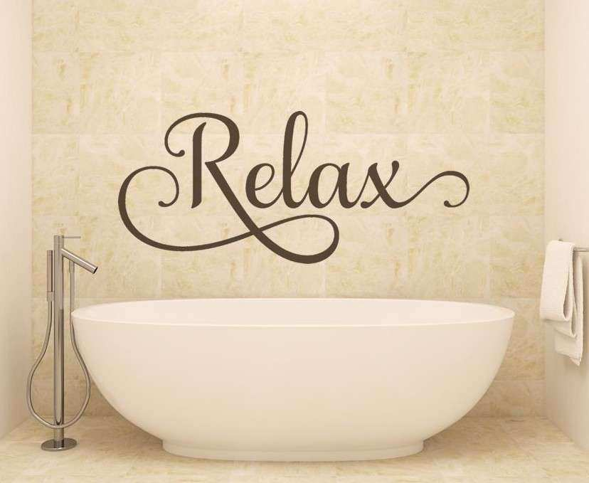 Bathroom Wall Decor Fresh Bathroom Wall Art Relax Wall Decals Wall ...
