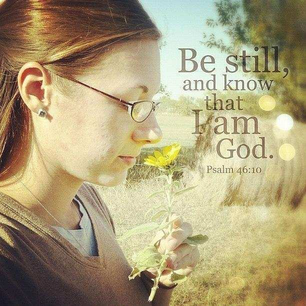 be Still And Know That I Am God graph by Traci