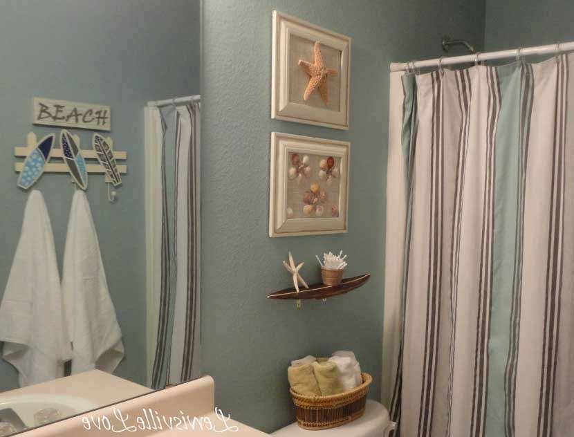 Beach Wall Decor For Bathroom With Frame