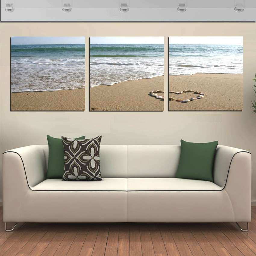 Beach Wall Decor Unique Free Shipping 3 Panel Wall Art Picture ...