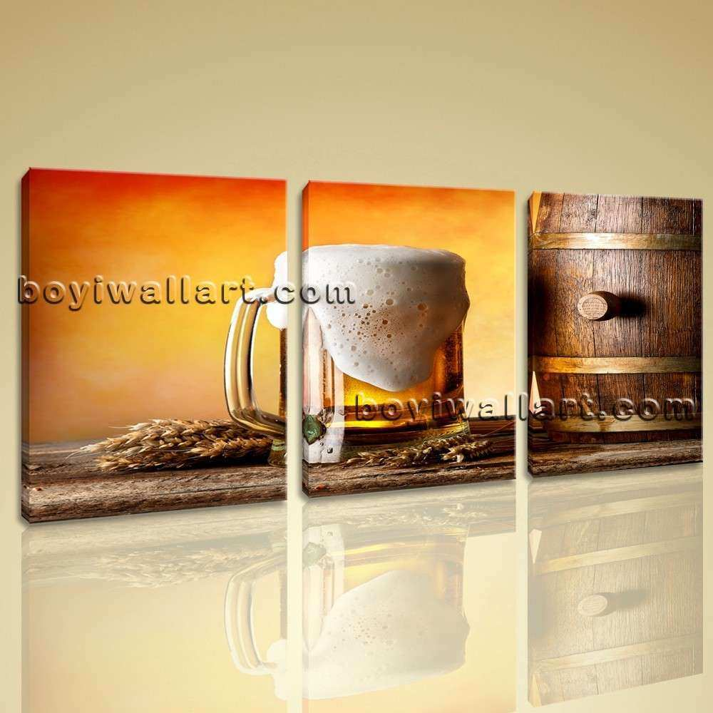 Beer Wall Art Beautiful New Modern Wall Art Canvas Picture Print ...