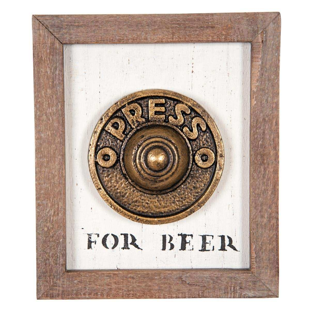Press For Beer Wall Art