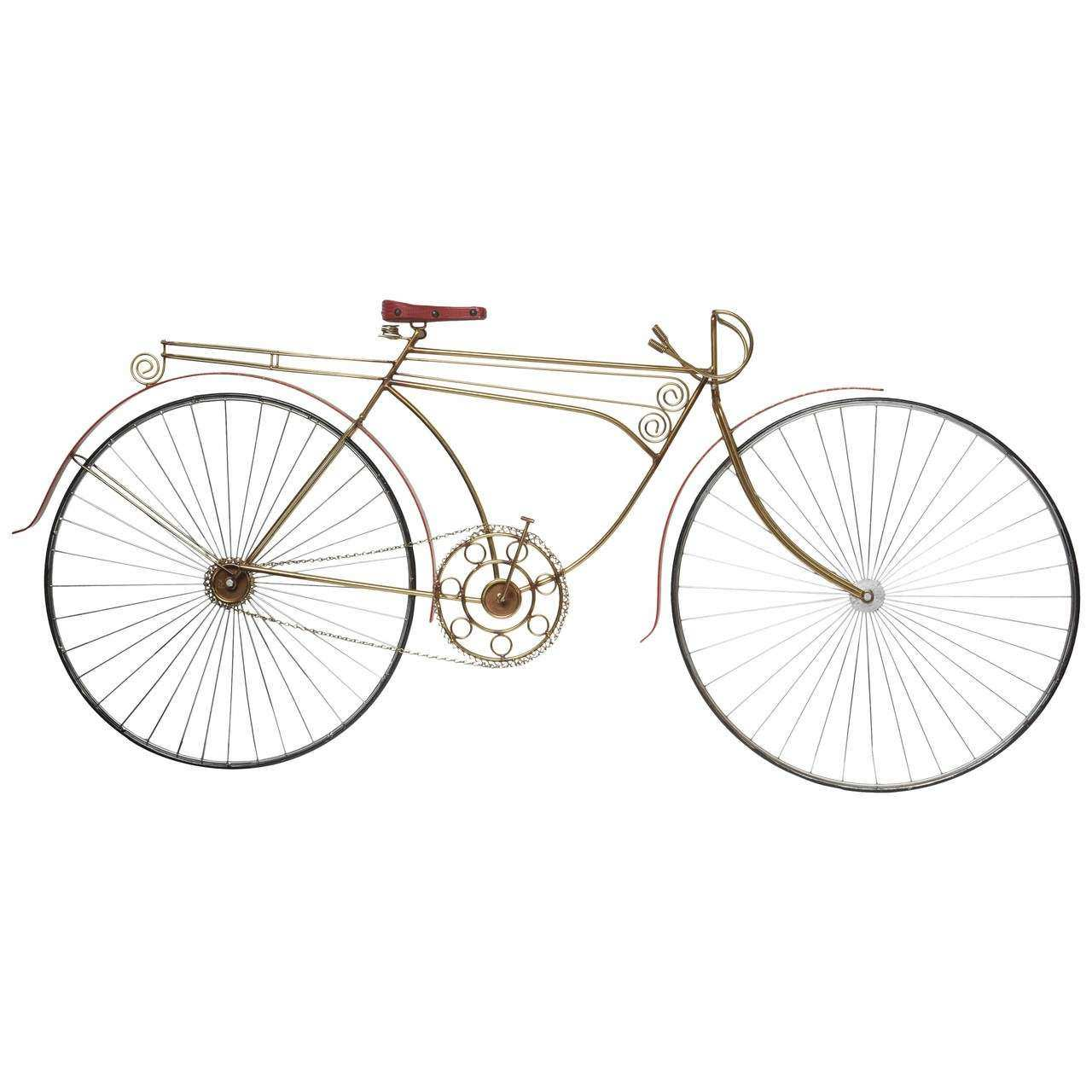 Curtis Jere Bicycle Wall Art Sculpture at 1stdibs