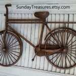 Bicycle Wall Decor Luxury Vintage Brown Bicycle Bike Metal Wall Decor Message Board Of Bicycle Wall Decor
