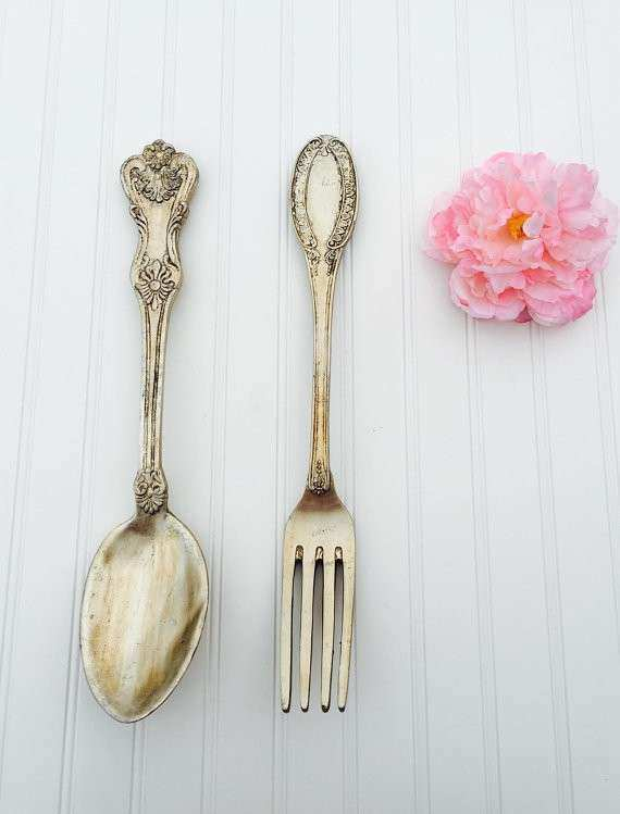 Spoon and Fork Kitchen Decor Kitchen Wall Decor